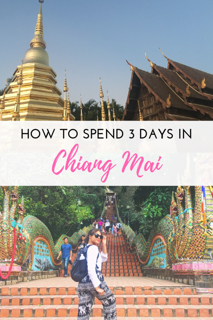 A 3-day itinerary for Chiang Mai, Thailand. After my tour from Bangkok to Phuket, I flew up to Chiang Mai by myself for 3 days. This post is an itinerary of what I saw, experienced, and loved from the trip!
