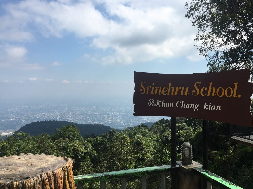 Photo of a school sign at hill tribe village in Chiang Mai, Thailand