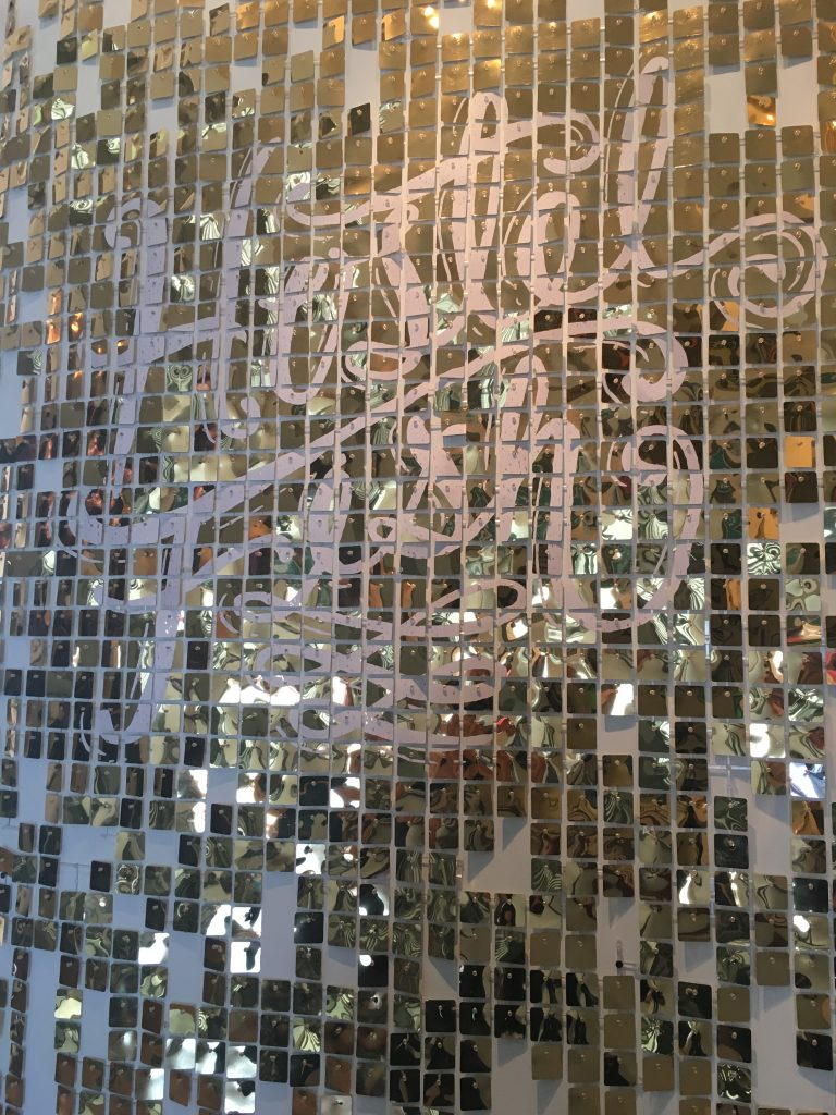 Photo of tiled wall at Hostel Fish in Denver, Colorado